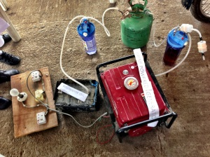 Urine Powered Generator setup   Source: MakerFaireAfrica.com